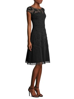 Ludovia Lace Cap Sleeve A-Line Dress