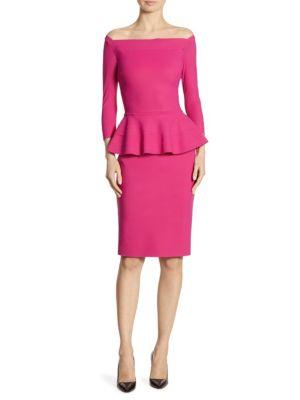 Sina Peplum Sheath Off-The-Shoulder Dress