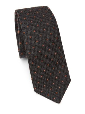 Polka Dot Wool & Silk Tie