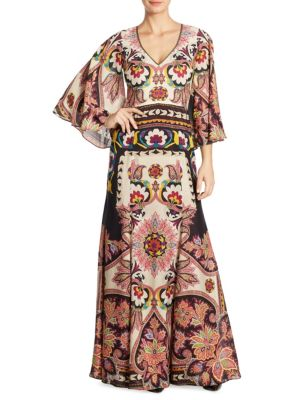 Paisley Printed Gown