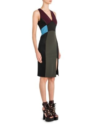 Compact Jersey V-Neck Dress