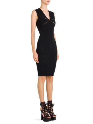 Pointelle-Knit Sheath Dress