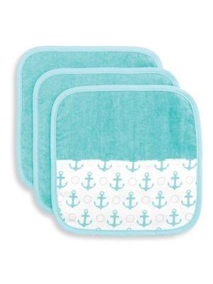 Baby's Three-Piece Organic Cotton Washcloth Set