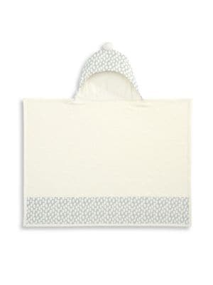 Baby's Dot Print Hooded Bath Wrap