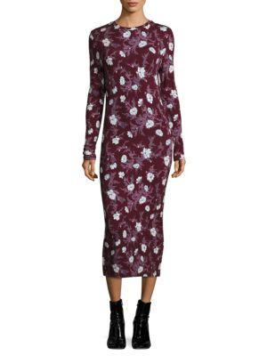 Long Jersey Floral Dress
