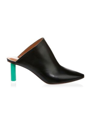 Two-Toned Leather Mules