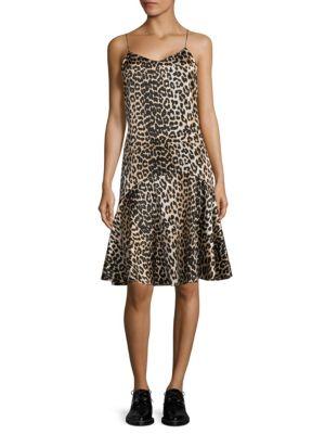 Dufort Leopard-Print Drop-Waist Dress