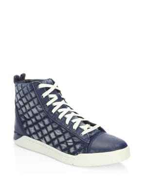 Tempus Diamond Leather Sneakers