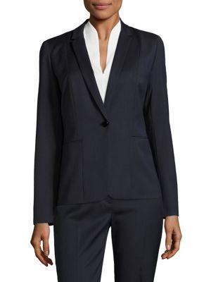 Tova Textured One-Button Blazer