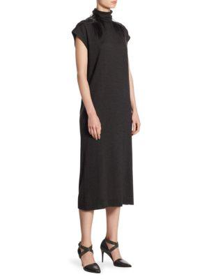 Silk & Cashmere Turtleneck Dress