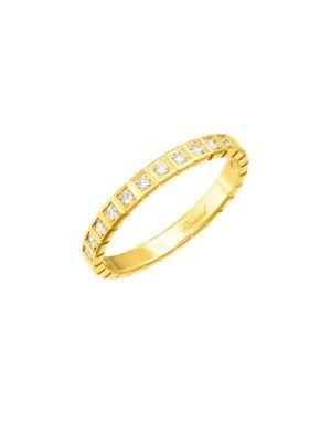 Ice Cube Diamond & 18K Yellow Gold Ring