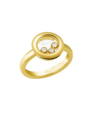 Happy Diamonds 18K Yellow Gold Ring