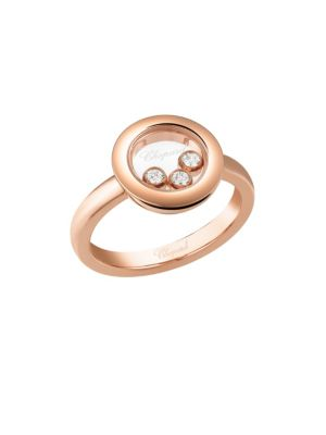 Happy Diamonds 18K Rose Gold Ring