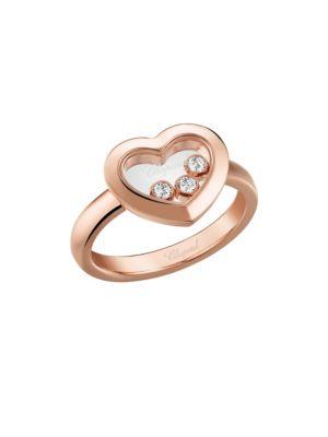 Happy Diamonds Heart 18K Rose Gold Ring