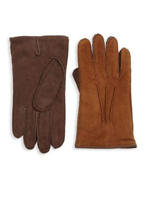 COLLECTION Two-Tone Leather Gloves