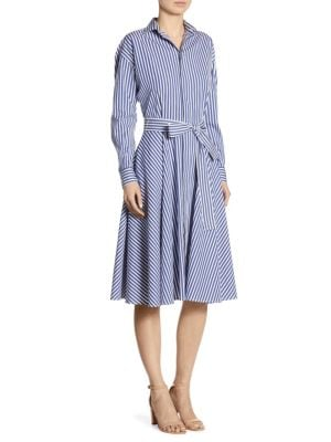 Striped Cotton Poplin Shirtdress
