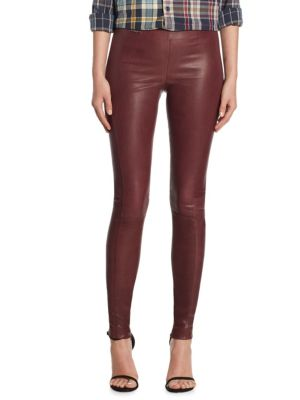 Skinny-Fit Leather Pants