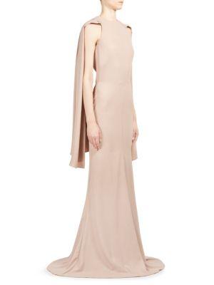 Scarf-Detail Halterneck Gown