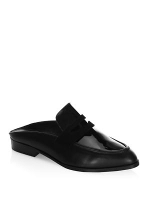 Robert Clergerie Allan Penny Leather Mules mVpDcY9