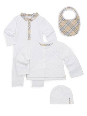 Baby's Cotton Four-Piece Gift Set