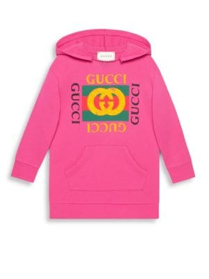 Buy Gucci Little Girl's & Girl's Hooded Gucci-Print Dress online with Australia wide shipping