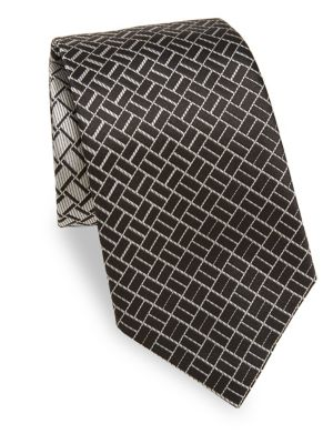 Neat Patterned Silk Tie