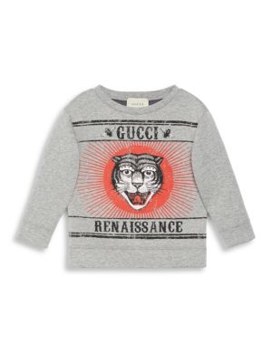 Little Boy's & Boy's Tiger-Print Sweatshirt