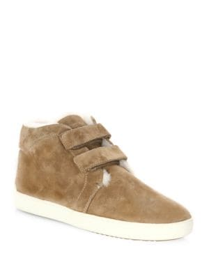 Kent Suede and Shearling Desert Sneakers