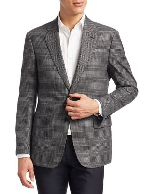 Slim Fit Plaid Wool Sportcoat