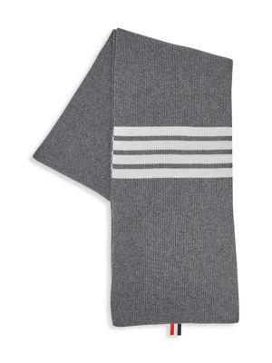 Full Needle Rib Wool Scarf