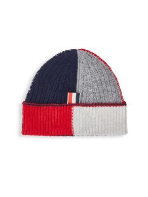 Rib-Knit Textured Wool Hat