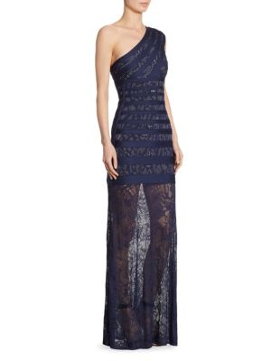 Karin One-Shoulder Gown
