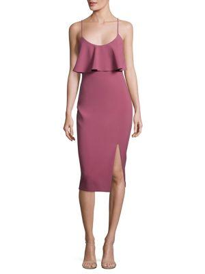 Dionne Flounce Sheath Dress