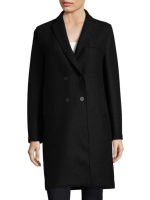 Boxy Double-Breasted Wool Coat
