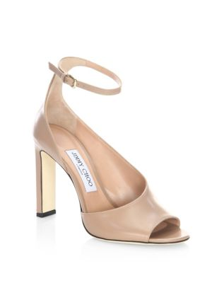 Theresa 100 Leather Ankle-Strap Sandals