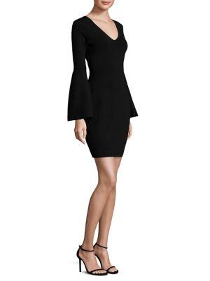 V- Neck Bell Sleeve Dress