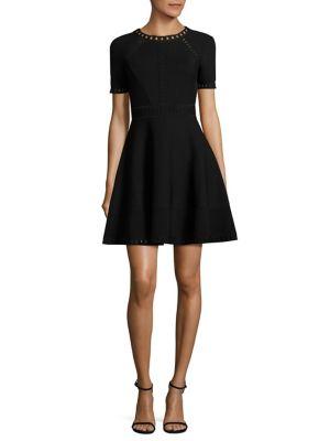 Bar Pointelle Textured Dress