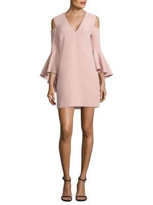 Nicole Cold Shoulder Bell Sleeve Dress