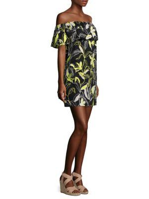 Floral-Print Off-The-Shoulder Dress