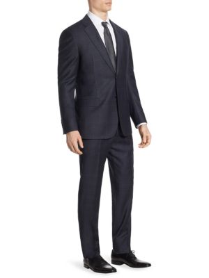 Plaid Wool G Line Suit