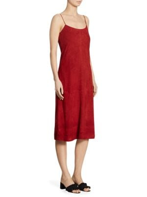 Telson Suede Crepe Dyed Slip Dress