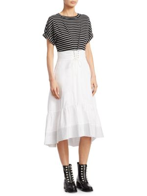 Stripe Corset Cotton Dress
