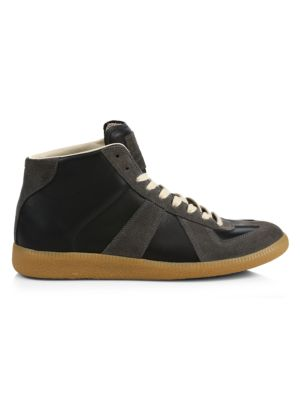 Replica High-Top Leather Sneakers