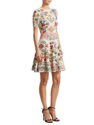 Vlm Paneled Fit-&-Flare Dress