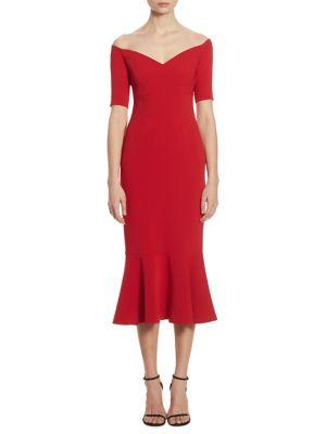 Marta Off-The-Shoulder Trumpet Dress
