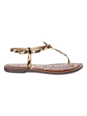 Gigi Leopard Print T-Strap Sandals