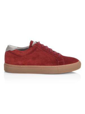 Round Toe Suede Low Top Sneakers