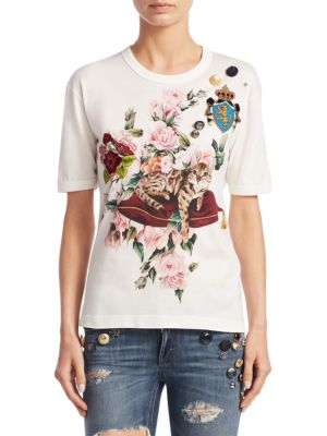Floral Cotton Tee by Dolce & Gabbana