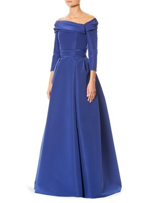 Silk Off-The-Shoulder Gown