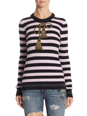 Striped Wool & Cashmere Pullover